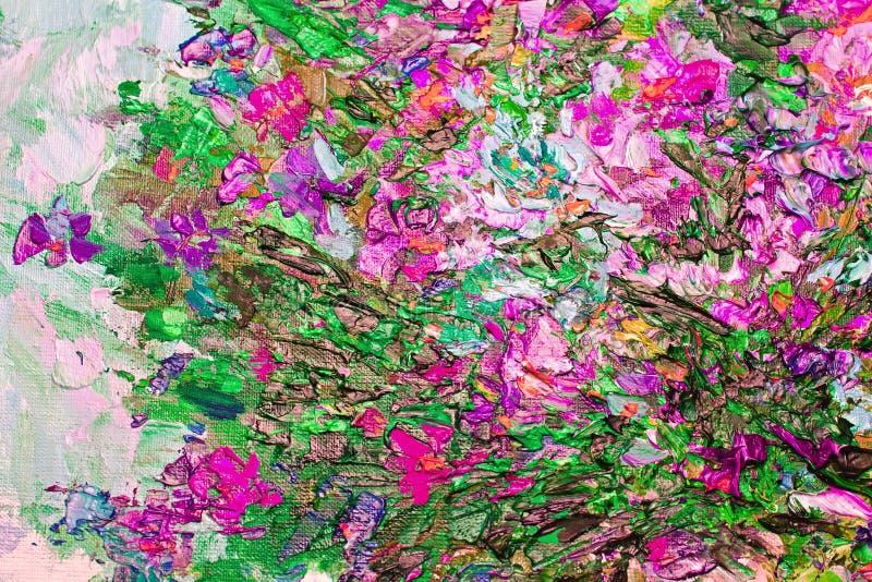 Η σύσταση της ελαιογραφίας, τέχνη χρωμάτισε το χρώμα εικόνας, χρώμα, καμβάς, απεικόνιση αποθεμάτων