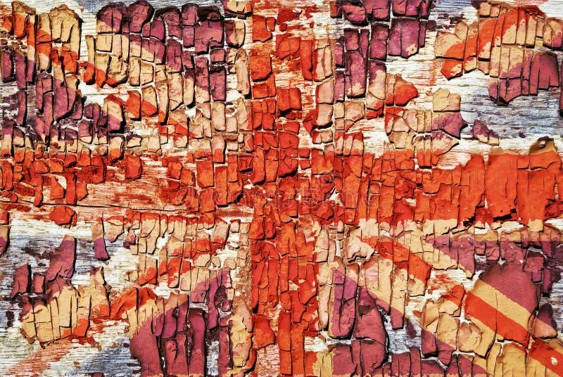 Η σύσταση του παλαιού χρώματος, κροταλίσματα με την εικόνα του Union Jack στοκ εικόνες