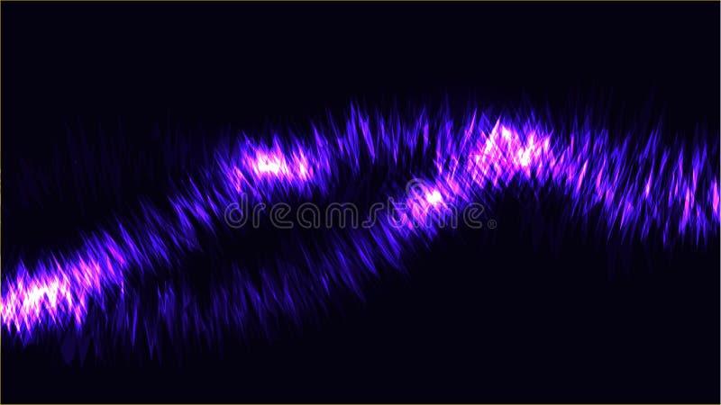 Η σύσταση των αφηρημένων μπλε κοσμικών μαγικών καμμένος φωτεινών λάμποντας γραμμών νέου κυμάτων των λουρίδων των νημάτων των ενερ διανυσματική απεικόνιση