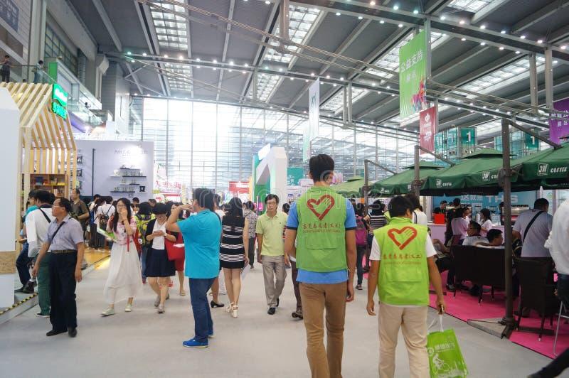 Η τέταρτη σύνοδος της έκθεσης ανταλλαγής προγράμματος φιλανθρωπίας της Κίνας στο κέντρο Συνθηκών και έκθεσης Shenzhen στοκ φωτογραφία με δικαίωμα ελεύθερης χρήσης