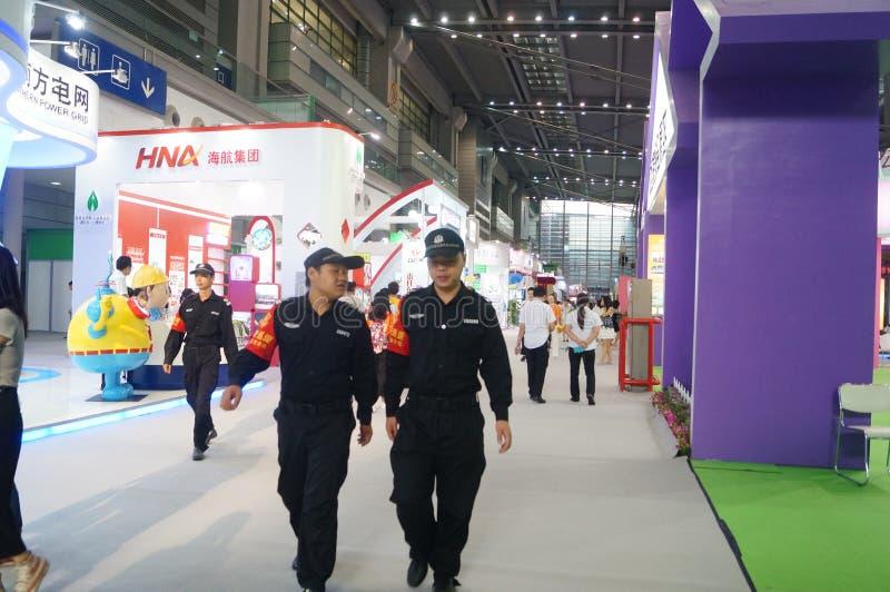 Η τέταρτη σύνοδος της έκθεσης ανταλλαγής προγράμματος φιλανθρωπίας της Κίνας στο κέντρο Συνθηκών και έκθεσης Shenzhen στοκ εικόνες με δικαίωμα ελεύθερης χρήσης