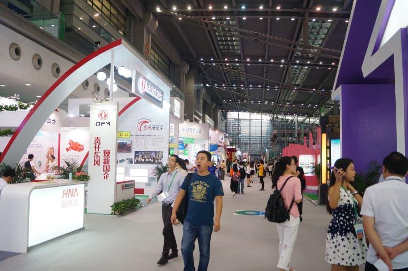 Η τέταρτη σύνοδος της έκθεσης ανταλλαγής προγράμματος φιλανθρωπίας της Κίνας στο κέντρο Συνθηκών και έκθεσης Shenzhen στοκ εικόνες