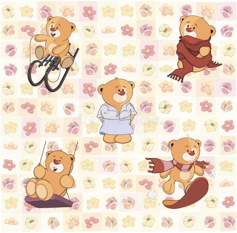 Η ταπετσαρία με γεμισμένος αντέχει cubs ελεύθερη απεικόνιση δικαιώματος