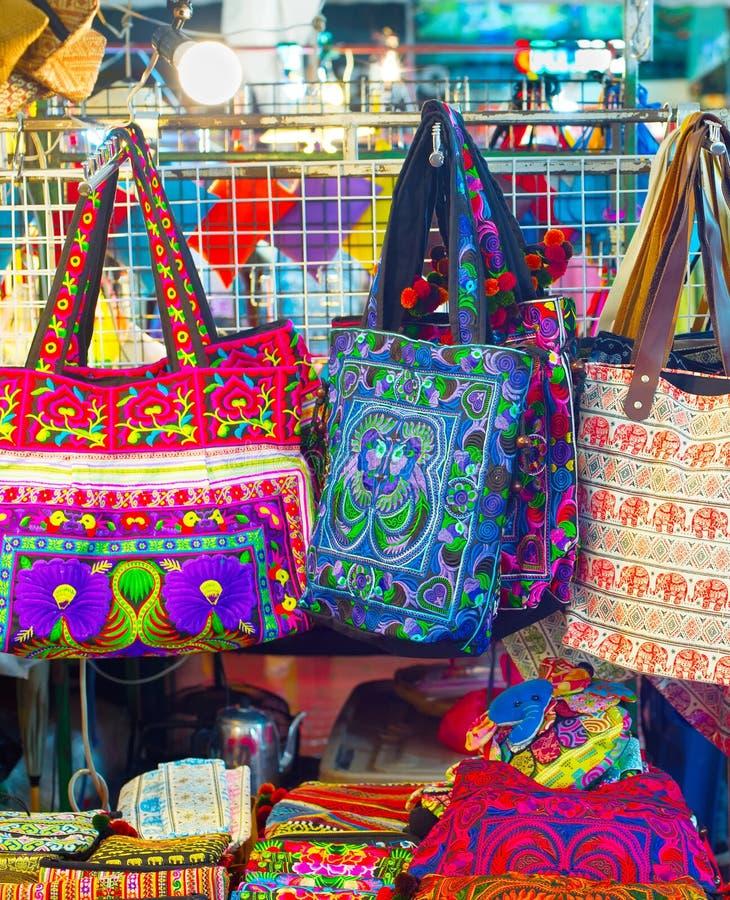 Η Ταϊλάνδη τοποθετεί τη νύχτα την αγορά σε σάκκο στοκ φωτογραφία με δικαίωμα ελεύθερης χρήσης