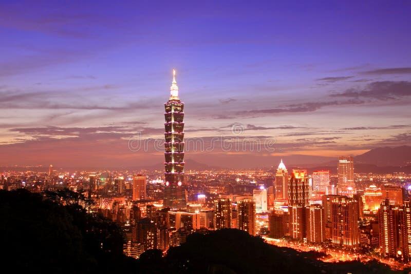 Η Ταϊπέι 101, Ταϊβάν στοκ εικόνα