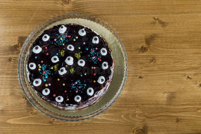 Η τοπ άποψη του mille crepe, κέικ χιλίων στρωμάτων στοκ φωτογραφίες με δικαίωμα ελεύθερης χρήσης