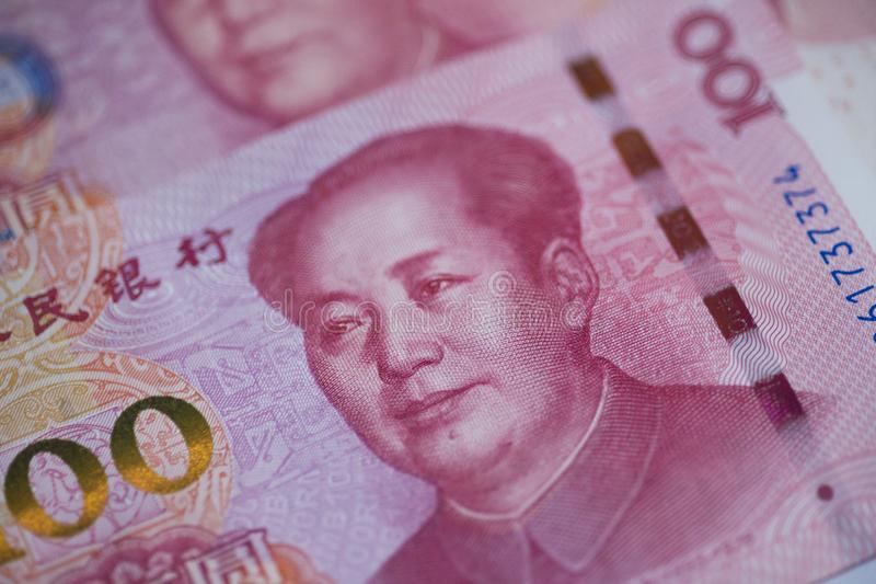 Η Τράπεζα της Κίνας 100 των ανθρώπων yuan νόμισμα, οικονομία, RMB, χρηματοδότηση, επένδυση, επιτόκιο, συναλλαγματική ισοτιμία, κυ στοκ φωτογραφία με δικαίωμα ελεύθερης χρήσης