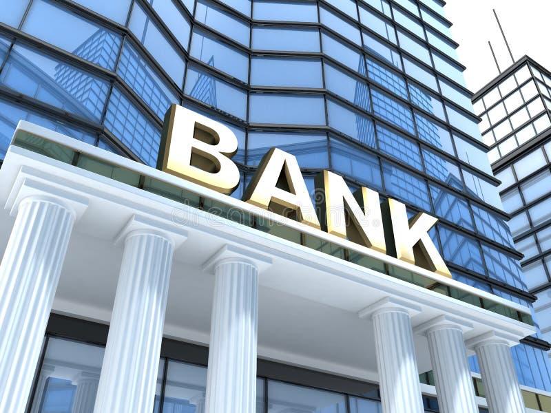 η τράπεζα χτίζει διανυσματική απεικόνιση
