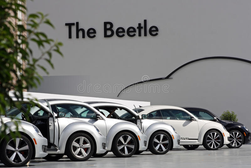 η τρίτη VW παραγωγής κανθάρων στοκ εικόνα