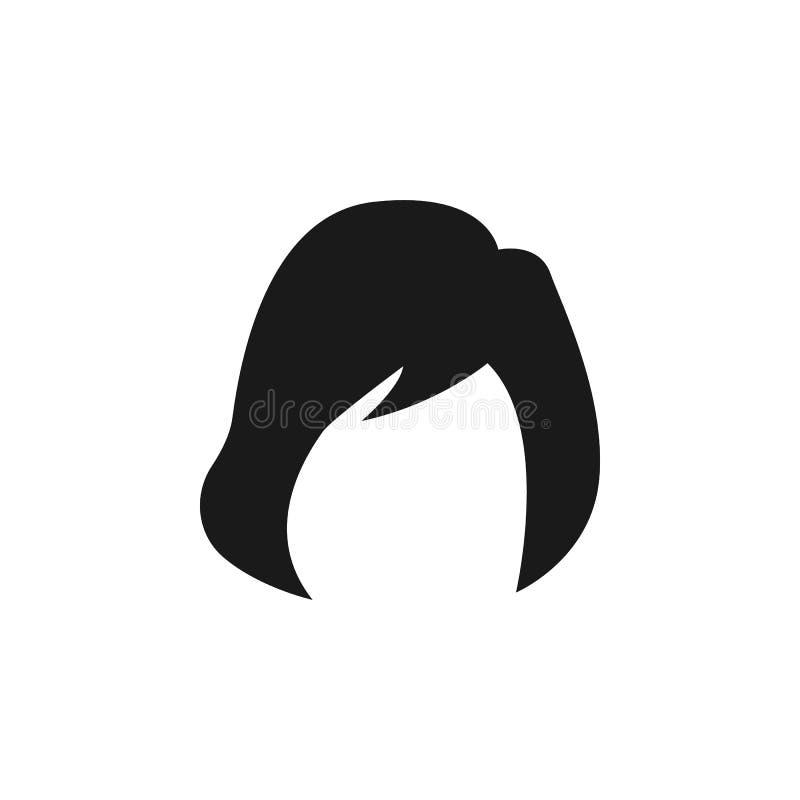 η τρίχα, γυναίκα, κούρεμα, τρίχα-κατεβάζει το εικονίδιο διανυσματική απεικόνιση
