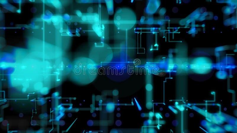 η τρισδιάστατη απεικόνιση, τρισδιάστατη απόδοση, αφαιρεί το γεωμετρικό υπόβαθρο, την μπλε γραμμή και την τεχνολογία Bokeh, αρχιτε διανυσματική απεικόνιση