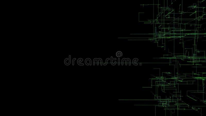 η τρισδιάστατη απεικόνιση, τρισδιάστατη απόδοση, αφαιρεί το γεωμετρικό υπόβαθρο, τεχνολογία Πράσινων Γραμμών, αρχιτεκτονικό διάγρ απεικόνιση αποθεμάτων