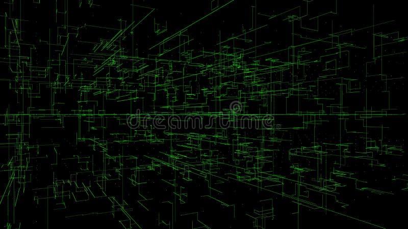 η τρισδιάστατη απεικόνιση, τρισδιάστατη απόδοση, αφαιρεί το γεωμετρικό υπόβαθρο, τεχνολογία Πράσινων Γραμμών, αρχιτεκτονικό διάγρ ελεύθερη απεικόνιση δικαιώματος