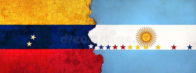 η τρισδιάστατη απεικόνιση για τους της Βενεζουέλας μετανάστες που φεύγουν στην Αργεντινή ως οικονομική/πολιτική κρίση επιδεινώνετ απεικόνιση αποθεμάτων