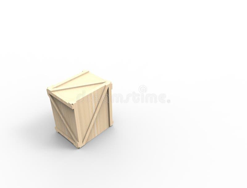 η τρισδιάστατη απόδοση ενός ξύλινου δημιουργεί απομονωμένος στο άσπρο υπόβαθρο στούντιο ελεύθερη απεικόνιση δικαιώματος