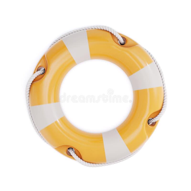η τρισδιάστατη εικόνα οδηγιών ανασκόπησης απομόνωσε το lifebuoy λευκό τρισδιάστατη απεικόνιση ελεύθερη απεικόνιση δικαιώματος