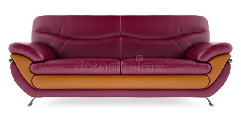 η τρισδιάστατη πορφύρα ανασκόπησης δίνει το λευκό καναπέδων στοκ εικόνες