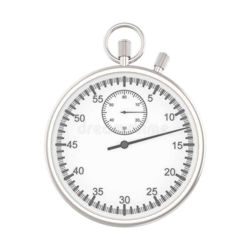 η τρισδιάστατη απεικόνιση απομόνωσε το ασημένιο χρονόμετρο με διακόπτη ελεύθερη απεικόνιση δικαιώματος