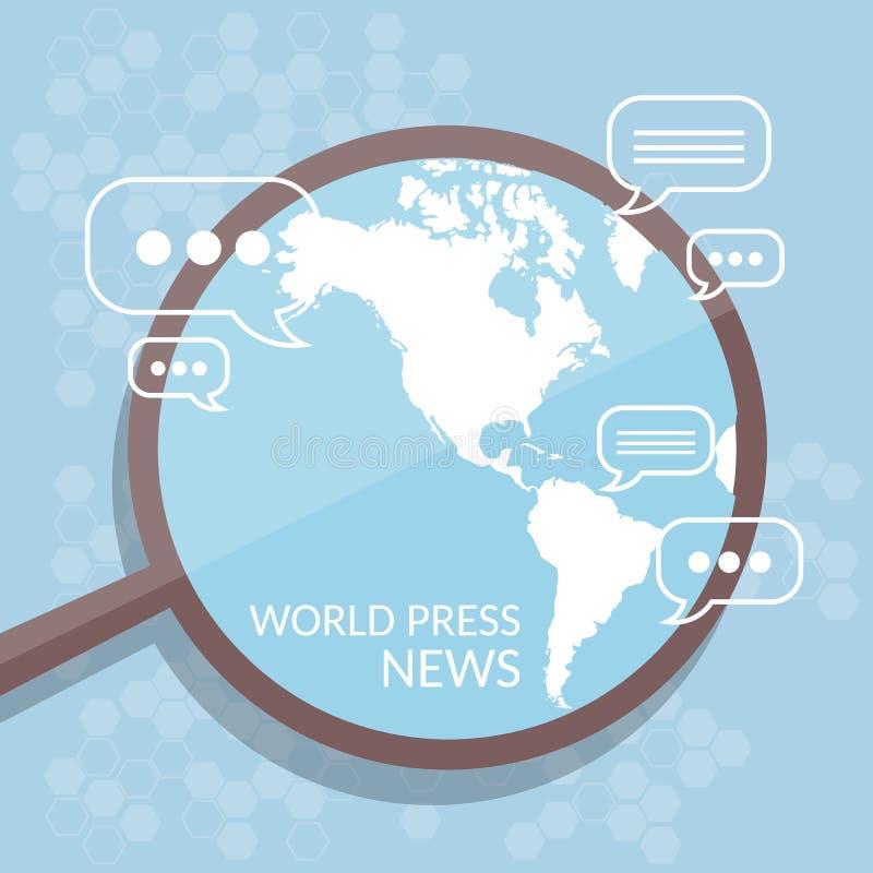 η τρισδιάστατη αφηρημένη εικόνα ειδήσεων γραφικής παράστασης ανασκόπησης μπλε δίνει τον κόσμο απεικόνιση αποθεμάτων