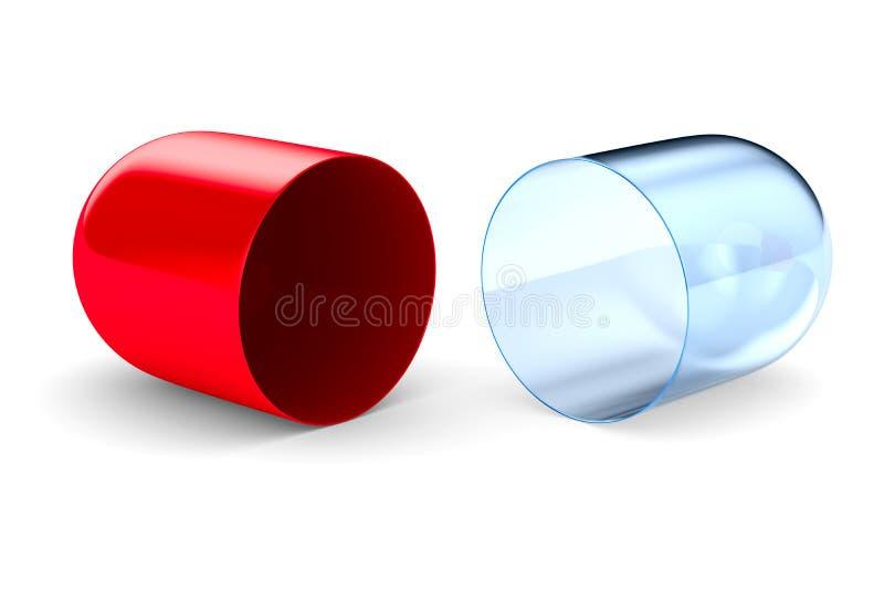 η τρισδιάστατη κάψα ανασκόπησης καθιστά άσπρος Απομονωμένος τρισδιάστατος απεικόνιση αποθεμάτων