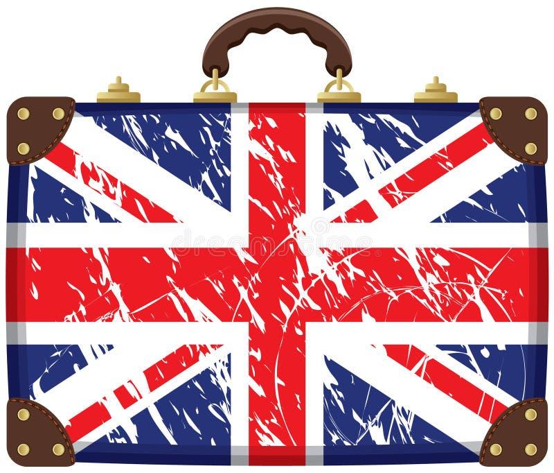 η τσάντα Βρετανοί σημαιοστολίζει διανυσματική απεικόνιση