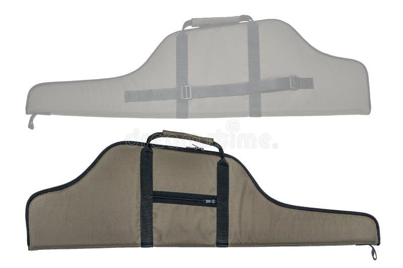 Η τσάντα για κρυμμένος φέρνει submachine του πυροβόλου όπλου απομονωμένος στοκ φωτογραφίες