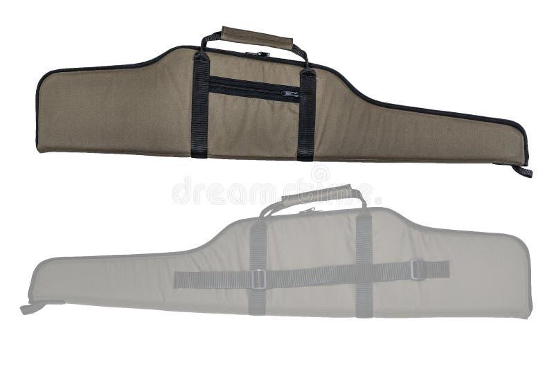 Η τσάντα για κρυμμένος φέρνει submachine του πυροβόλου όπλου απομονωμένος στοκ εικόνες με δικαίωμα ελεύθερης χρήσης