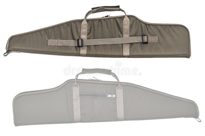 Η τσάντα για κρυμμένος φέρνει submachine του πυροβόλου όπλου απομονωμένος στοκ εικόνες