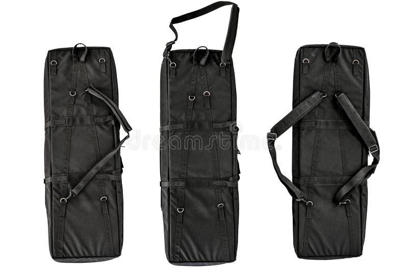 Η τσάντα για κρυμμένος φέρνει submachine του πυροβόλου όπλου απομονωμένος στοκ φωτογραφία με δικαίωμα ελεύθερης χρήσης