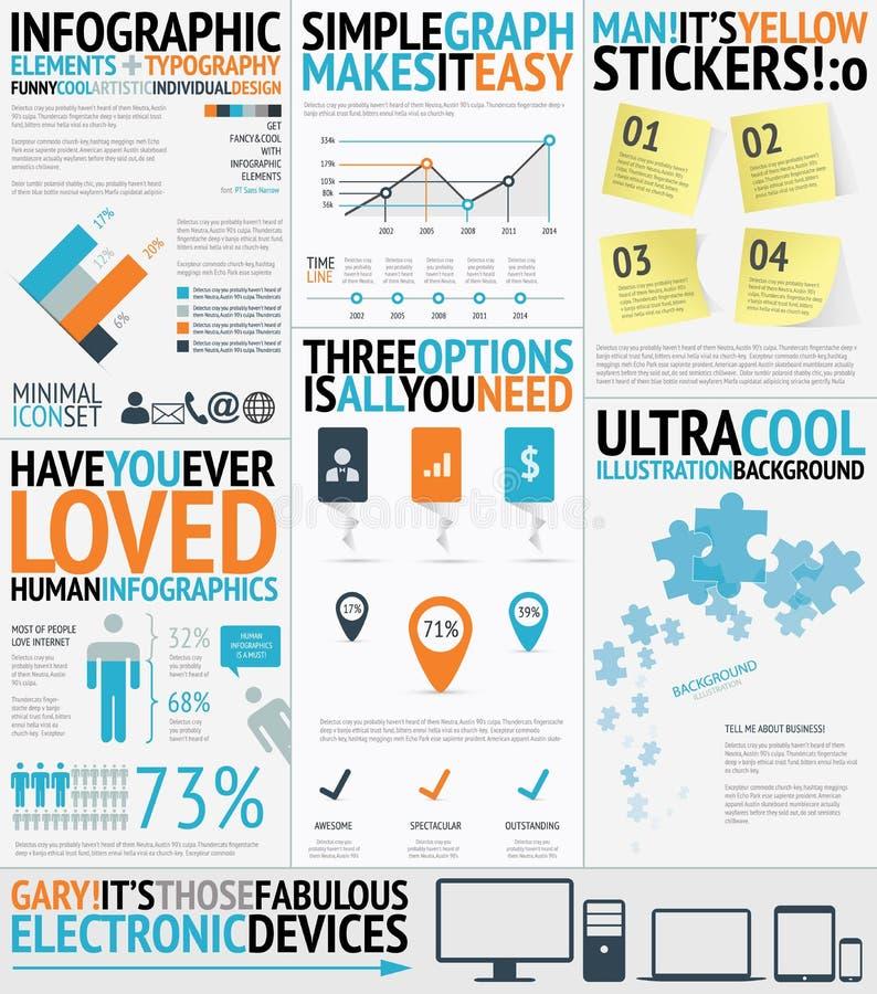 Η τυπογραφία Infographic γέμισε το εύκολο και φρέσκο vecto απεικόνιση αποθεμάτων