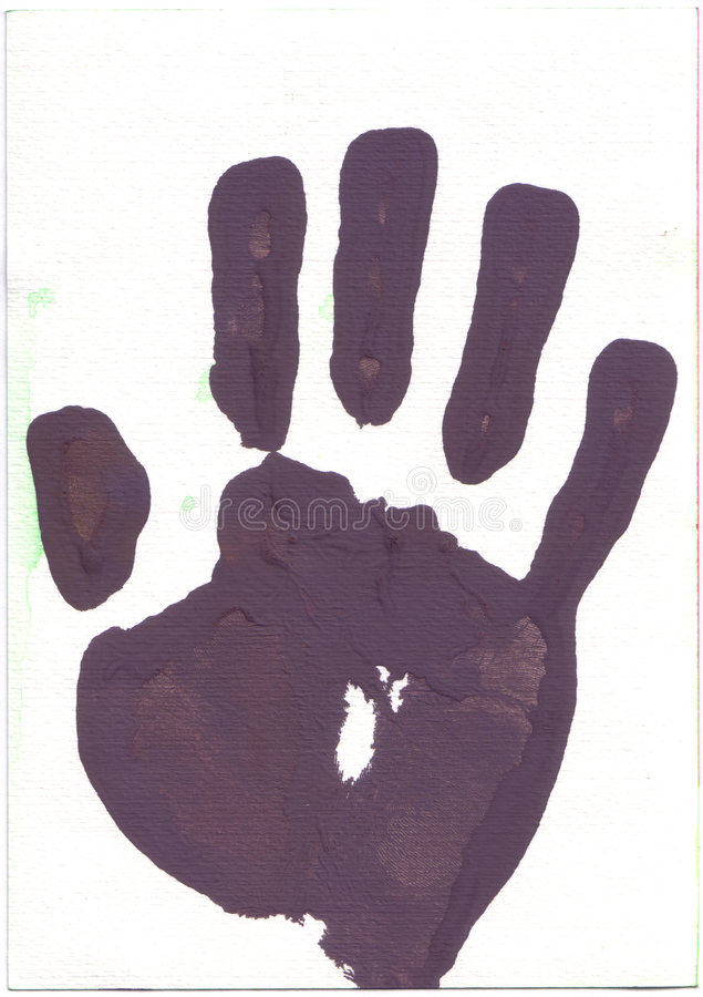 η τυπωμένη ύλη εγγράφου χεριών watercolour στοκ φωτογραφία με δικαίωμα ελεύθερης χρήσης