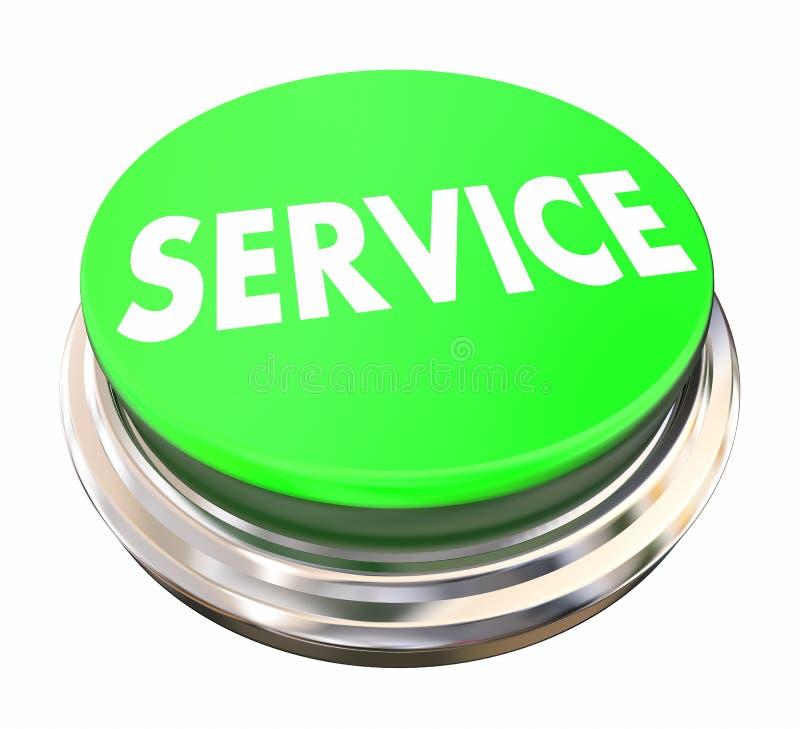 Η υπηρεσία προτίμησε το πράσινο κουμπί απεικόνιση αποθεμάτων