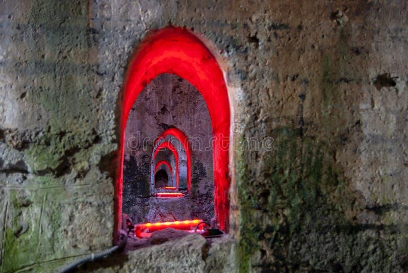 Η υπόγεια ομάδα των αψίδων σε Ramla r στοκ εικόνες