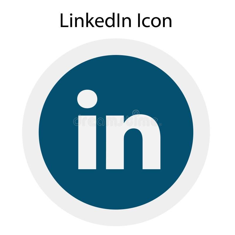Η υψηλή ανάλυση στρογγύλεψε το χρωματισμένο λογότυπο LinkedIn με το διανυσματικό αρχείο AI στοκ εικόνες με δικαίωμα ελεύθερης χρήσης