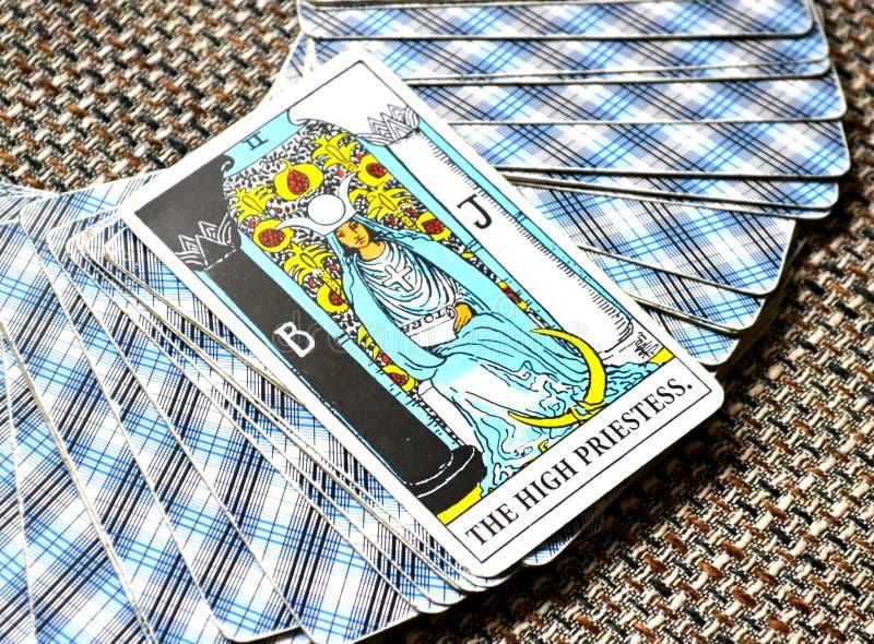 Η υψηλή κάρτα Tarot ιερειών υποσυνείδητη, υψηλός-μόνος στοκ φωτογραφία με δικαίωμα ελεύθερης χρήσης