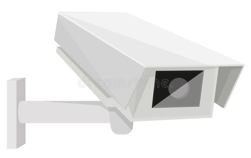 η υψηλή απεικόνιση CCTV φωτογραφικών μηχανών ανασκόπησης απομόνωσε το ποιοτικό λευκό διανυσματική απεικόνιση