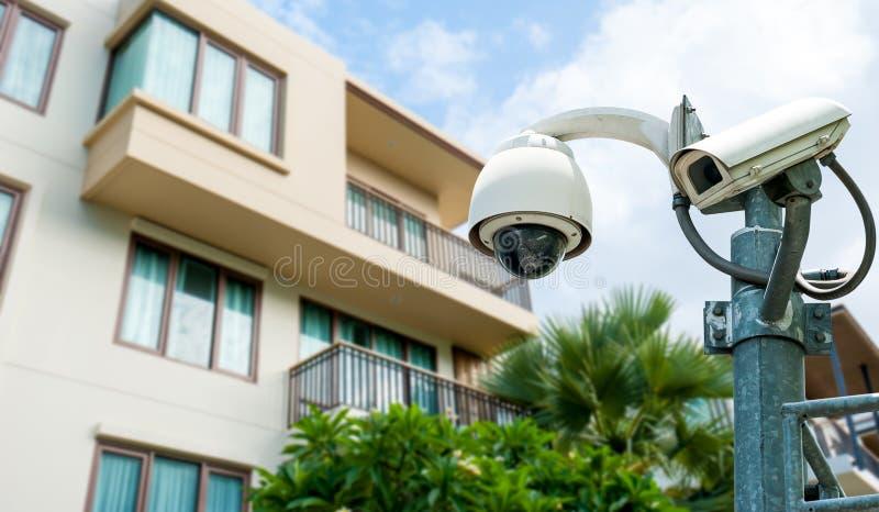 η υψηλή απεικόνιση CCTV φωτογραφικών μηχανών ανασκόπησης απομόνωσε το ποιοτικό λευκό στοκ φωτογραφίες με δικαίωμα ελεύθερης χρήσης