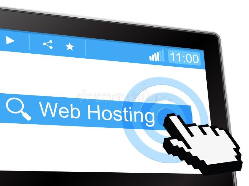 Η φιλοξενία Ιστού αντιπροσωπεύει Www Webhosting και Webhost ελεύθερη απεικόνιση δικαιώματος