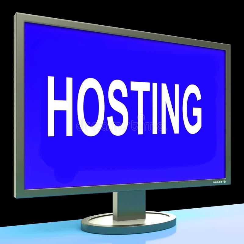 Η φιλοξενία παρουσιάζει τον Ιστό Διαδίκτυο ή περιοχή ιστοχώρου ελεύθερη απεικόνιση δικαιώματος