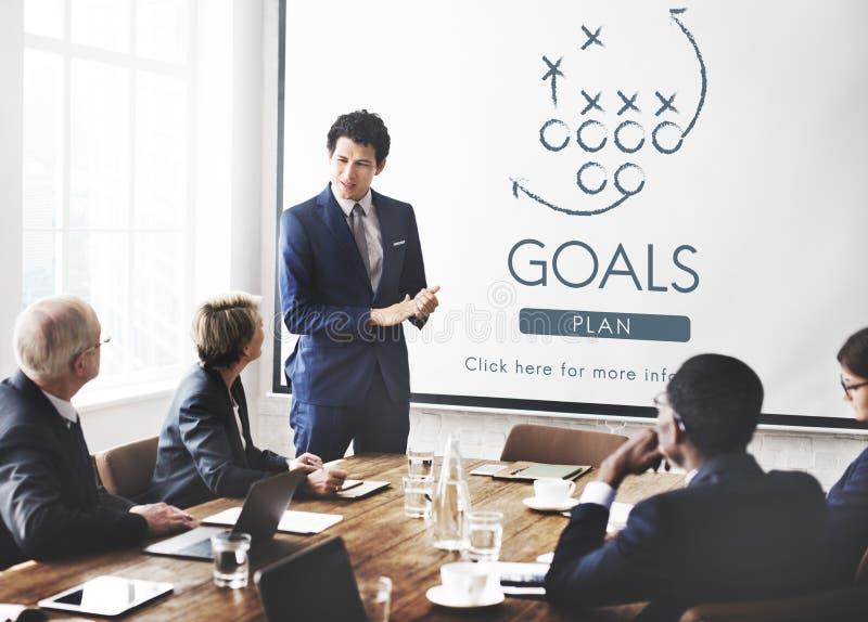 Η φιλοδοξία στόχου στόχων θεωρεί την έννοια στόχων έμπνευσης στοκ εικόνες με δικαίωμα ελεύθερης χρήσης
