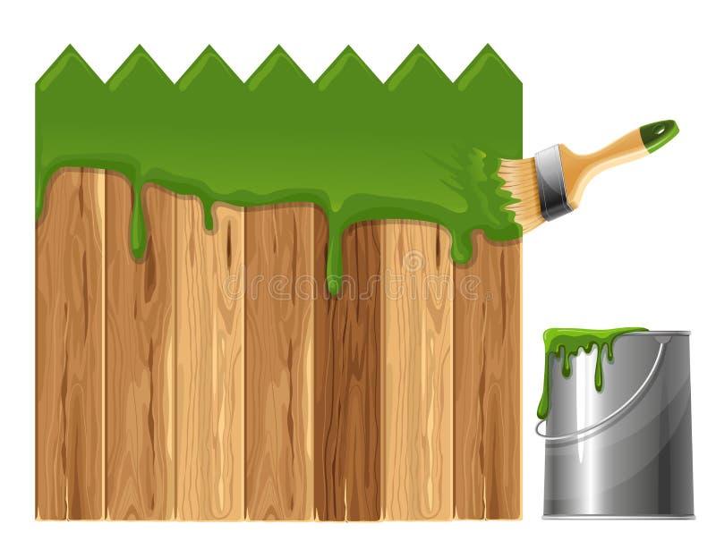 η φραγή χρωμάτισε ξύλινο ελεύθερη απεικόνιση δικαιώματος