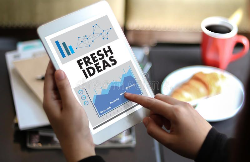 Η ΦΡΕΣΚΙΑ καινοτομία σχεδίου ιδεών των cIdea σκέφτεται την αντικειμενική στρατηγική, Ν απεικόνιση αποθεμάτων