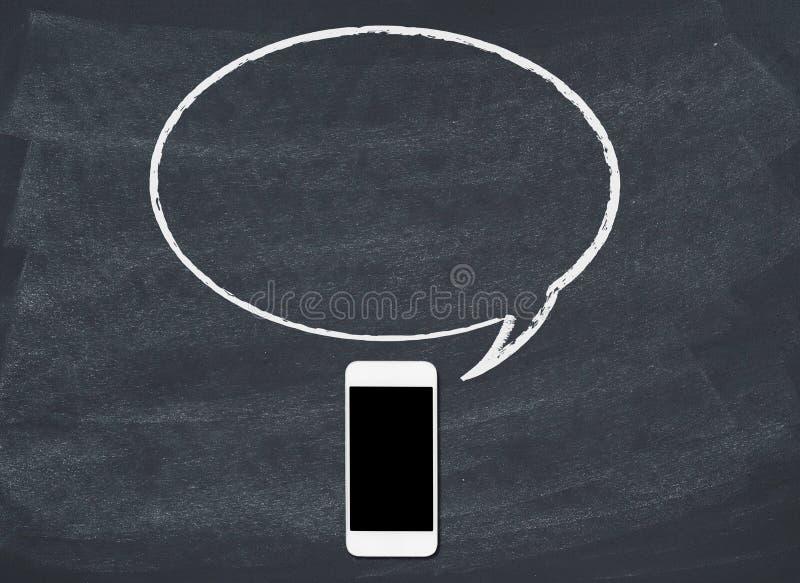 η φυσαλίδα δημιούργησε ψηφιακά την τηλεφωνική έξυπνη ομιλία στοκ εικόνες