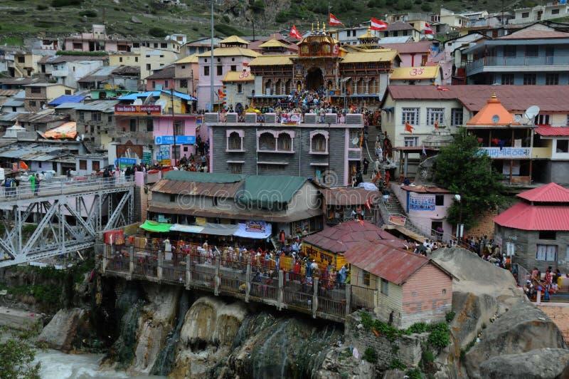 Η φυσική άποψη από την πόλη Badrinath, Ινδία στοκ φωτογραφία με δικαίωμα ελεύθερης χρήσης