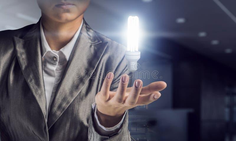 Η φωτεινή μεγάλη ιδέα της Μικτά μέσα στοκ φωτογραφία με δικαίωμα ελεύθερης χρήσης
