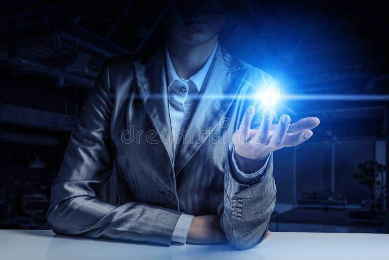 Η φωτεινή μεγάλη ιδέα της Μικτά μέσα στοκ εικόνες