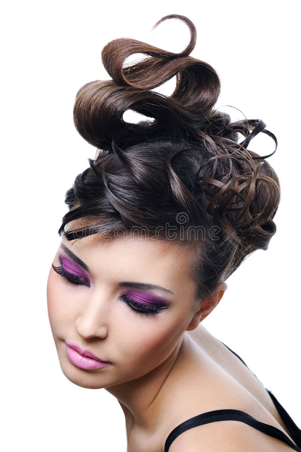 η φωτεινή μόδα hairstyle αποτελεί &ta στοκ φωτογραφίες με δικαίωμα ελεύθερης χρήσης