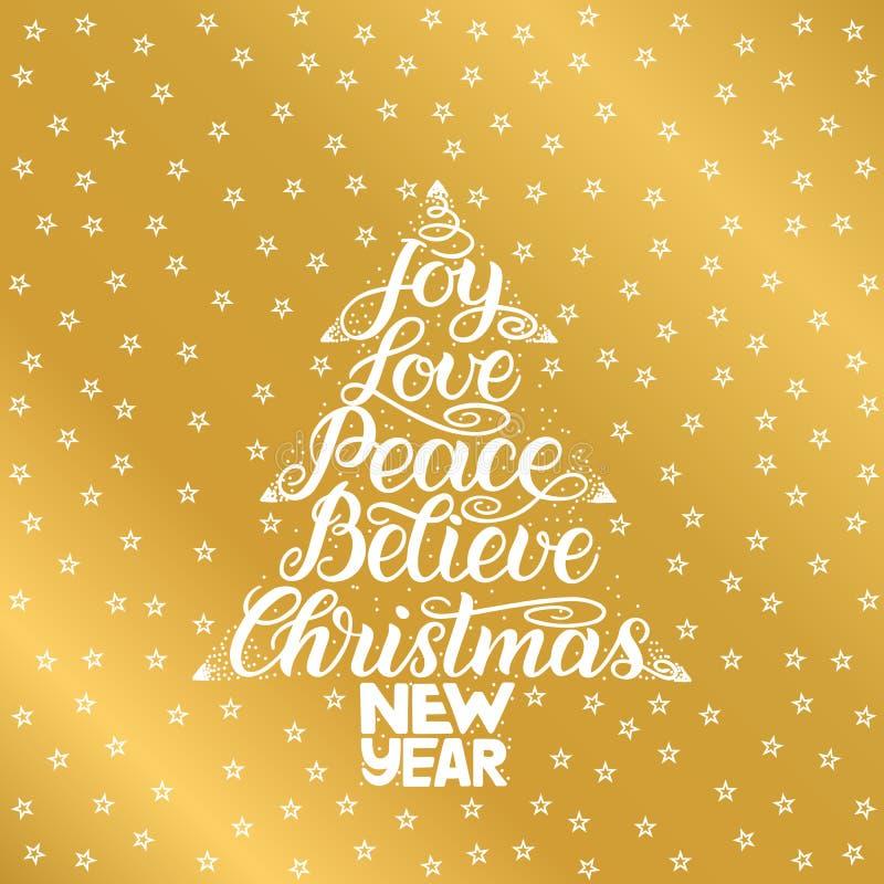 Η χαρά, αγάπη, ειρήνη, θεωρεί, Χριστούγεννα, νέο έτος Εγγραφή γραφής για τη ευχετήρια κάρτα, πρόσκληση, τυπωμένη ύλη, αφίσα Hol τ ελεύθερη απεικόνιση δικαιώματος