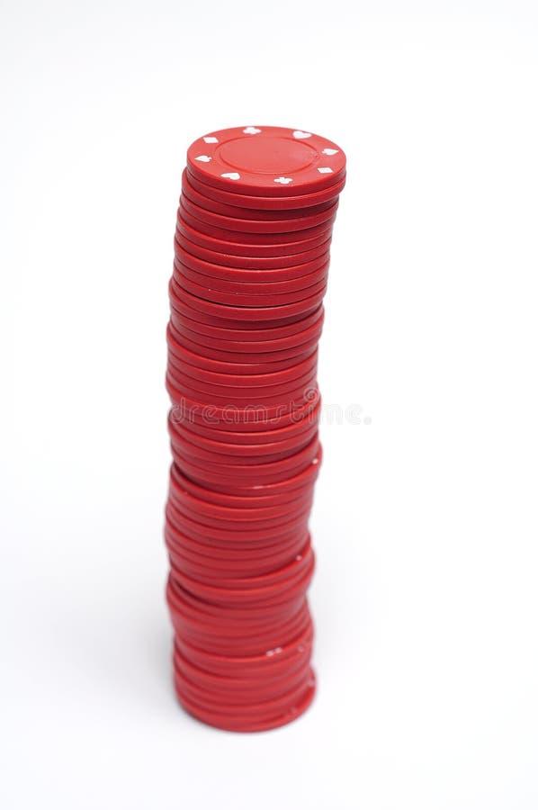 η χαρτοπαικτική λέσχη πελεκά το κόκκινο πόκερ στοκ φωτογραφία με δικαίωμα ελεύθερης χρήσης