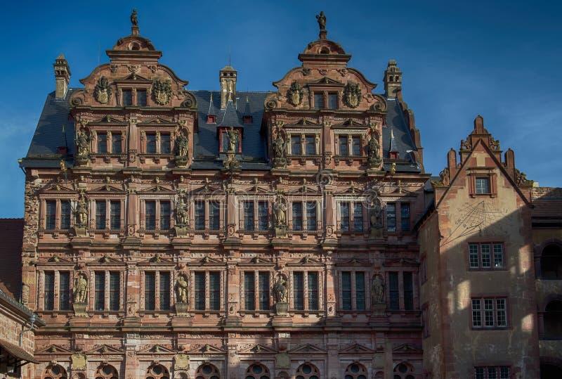 Η Χαϋδελβέργη Castle είναι μια διάσημη καταστροφή στη Γερμανία και το ορόσημο της Χαϋδελβέργης στοκ εικόνα